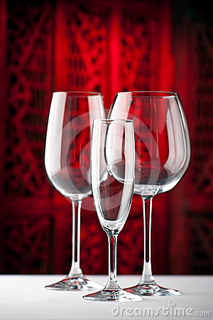Red White Champagne Glasses Royalty Free Stock Photography - Image: 24373217