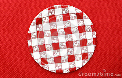 Red and White Checkered Plate