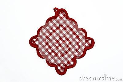Red and White Checkered Potholder