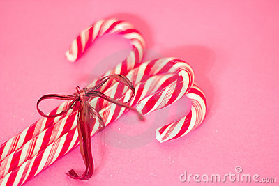 Red and white Christmas candy canes