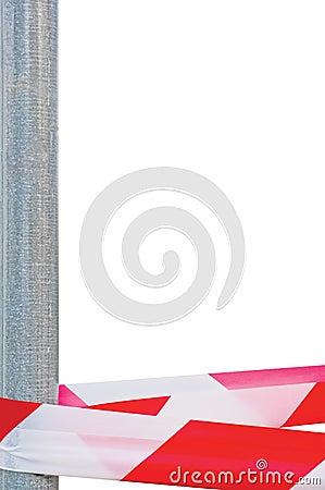 Red White Do Not Cross Headband Ribbon Tape