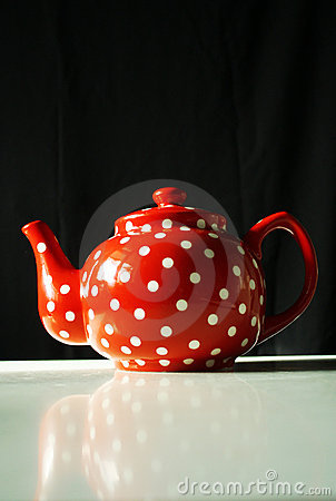 Red With White Dots Teapot Royalty Free Stock Photos - Image: 20830398