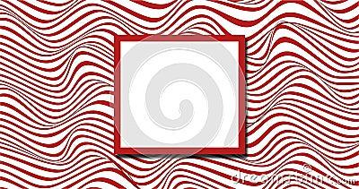 Red and white random wavy background Stock Photo
