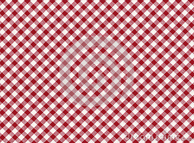 Red and white striped seamless tablecloth