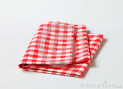 Red and white table linen