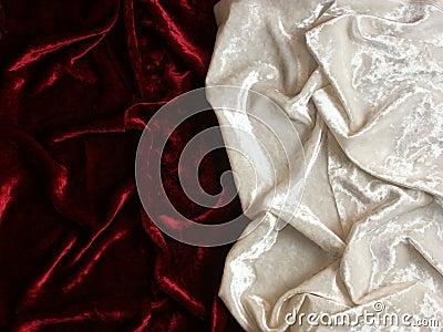 Red and white velvet