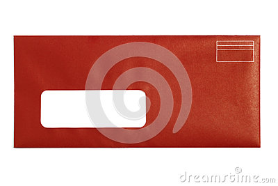 Red Window Envelope