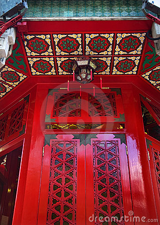 Red Window Wong Tai Sin Taoist Temple Hong Kong