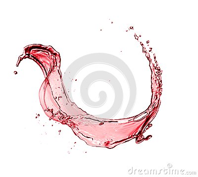 Free Red Wine Abstract Splash Shape On White Background Stock Images - 113478764