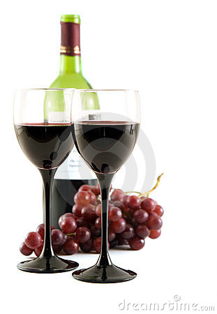 Free Red Wine And Grapes Royalty Free Stock Photos - 1843608