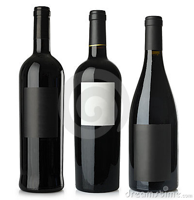 Free Red Wine Blank Bottles Stock Photo - 10671990