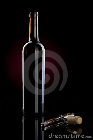 Free Red Wine Bottle Royalty Free Stock Photos - 22529978