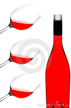 Free Red Wine Bottle And Glasses Stock Photo - 16744250