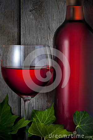 Red Wine Bottle Glass