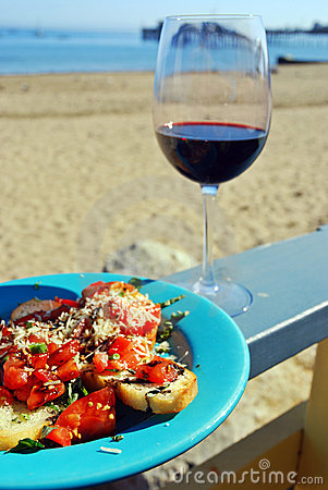 Red Wine and Bruschetta