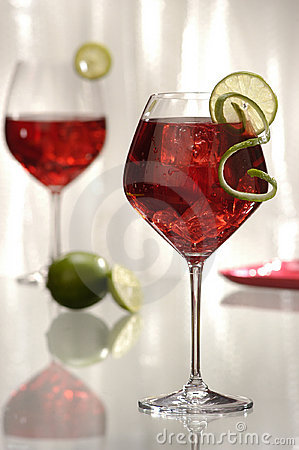 Free Red Wine Cocktails 1 Stock Photos - 229553