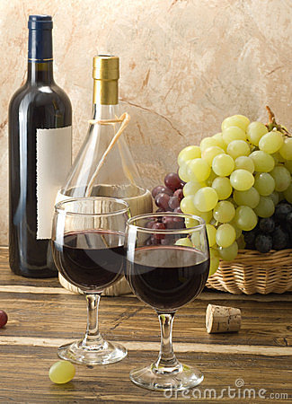 Free Red Wine Composition Royalty Free Stock Image - 10368496