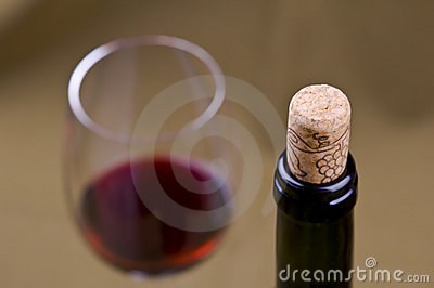 red wine and cork