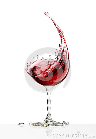 Free Red Wine Glass On A White Background Royalty Free Stock Image - 91213906