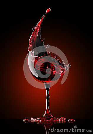 Free Red Wine Glass On Black Background Royalty Free Stock Image - 90960636