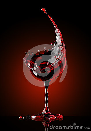 Free Red Wine Glass On Black Background Royalty Free Stock Photos - 92832898