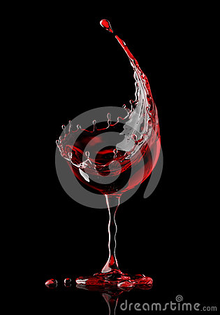 Free Red Wine Glass On Black Background Royalty Free Stock Photography - 93289437