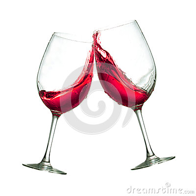 Free Red Wine Glasses Stock Photo - 40553940