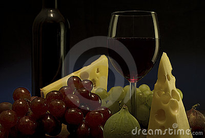 Red wine, grape, cheese I