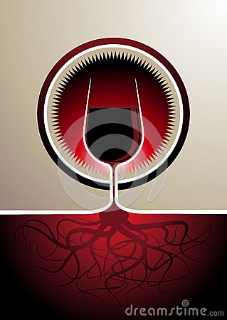 Free Red Wine Icon With The Glass As The Vine Royalty Free Stock Photo - 32702745