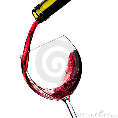 Free Red Wine Is Poured Into A Glass Royalty Free Stock Photos - 12896238