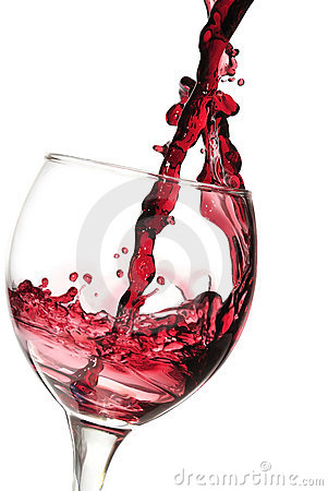 Free Red Wine Pouring Down Stock Photo - 4964770