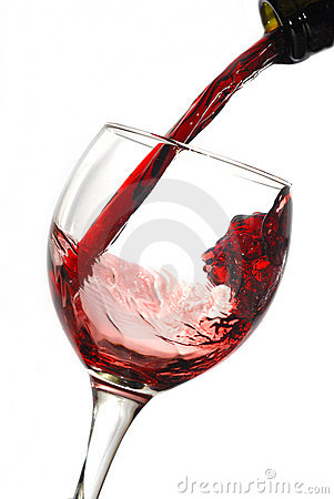 Free Red Wine Pouring Down From A Bottle Royalty Free Stock Photos - 4159678