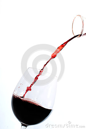 Free Red Wine Pouring Into A Glass Stock Photography - 26897932