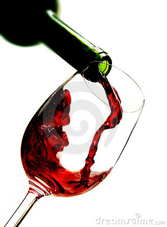 Free Red Wine Pouring Into Wine Glass Royalty Free Stock Image - 4644286