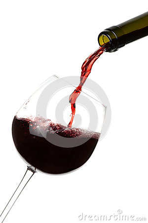 Red Wine Pouring isolated