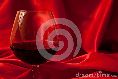 Red wine and silk