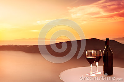 Red Wine Sunset
