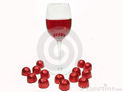 Red wine and sweetmeats