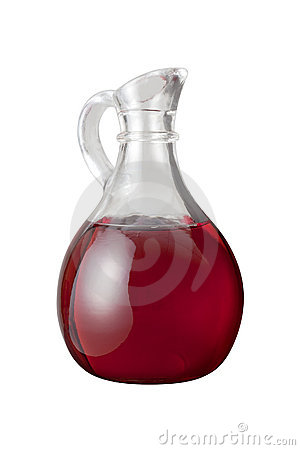 Red Wine  Vinegar (with clipping path)
