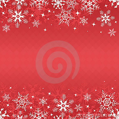 Red winter banner
