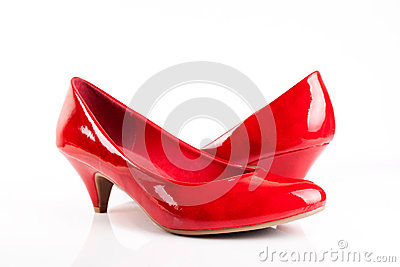 Red woman dancing shoes