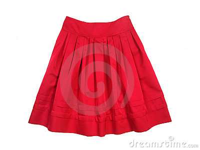 Red women skirt