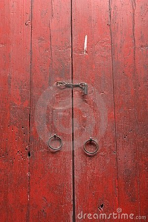 Free Red Wood Gate Royalty Free Stock Photography - 14317457