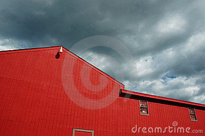 Red wooden barn exterior