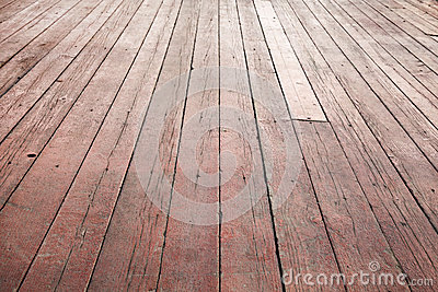 Red wooden floor perspective. Background texture