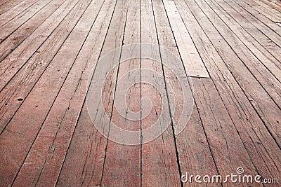 Red wooden floor perspective. Background texture