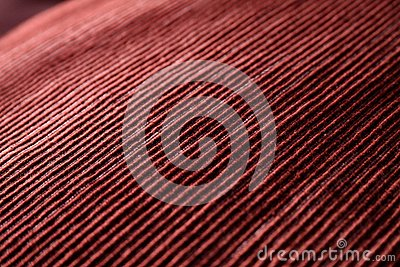 Red woven fabric closeup