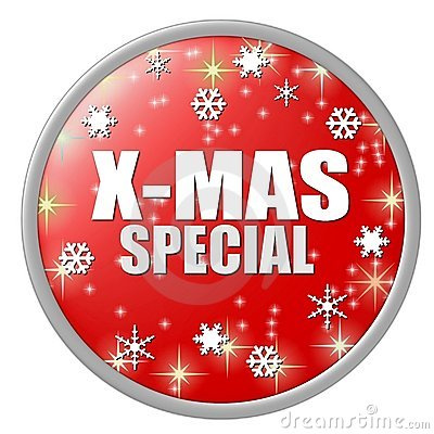 Red x-mas special button