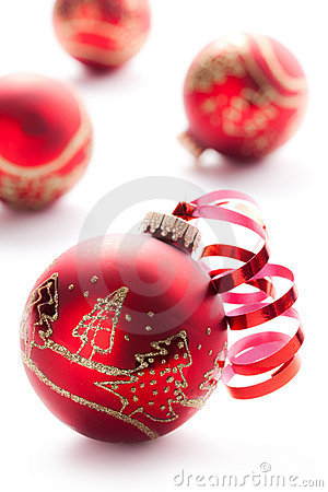 Free Red Xmas Ball Stock Photography - 15737452
