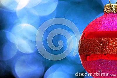 Red xmas ball